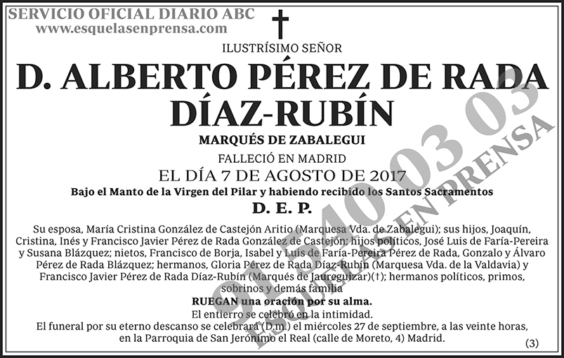 Alberto Pérez de Rada Díaz-Rubín